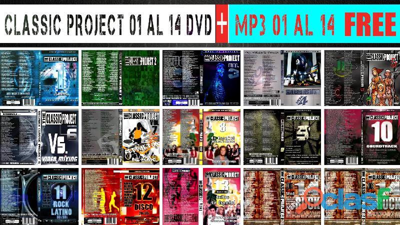 Classic project dvd 01 al 14 + ( mp3 01 al 14 free ) envió gratis