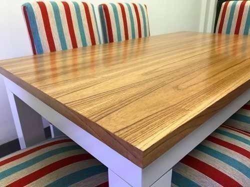 Mesa cocina comedor laqueada madera paraíso entrega