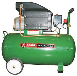 Compresor fema 50 lts 2.5 hp