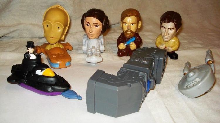lote de muñecos y juguetes de mc donalds STAR WARS