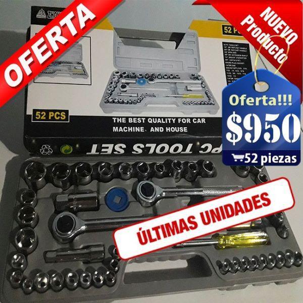 Ultimos!!! caja juego herramientas tubo y puntas 52 piezas 298c3e504d4f