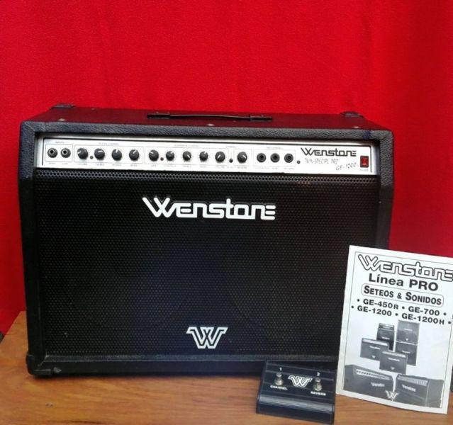 Amplificador wenstone 2x12 linea pro! ge1200 (120w)