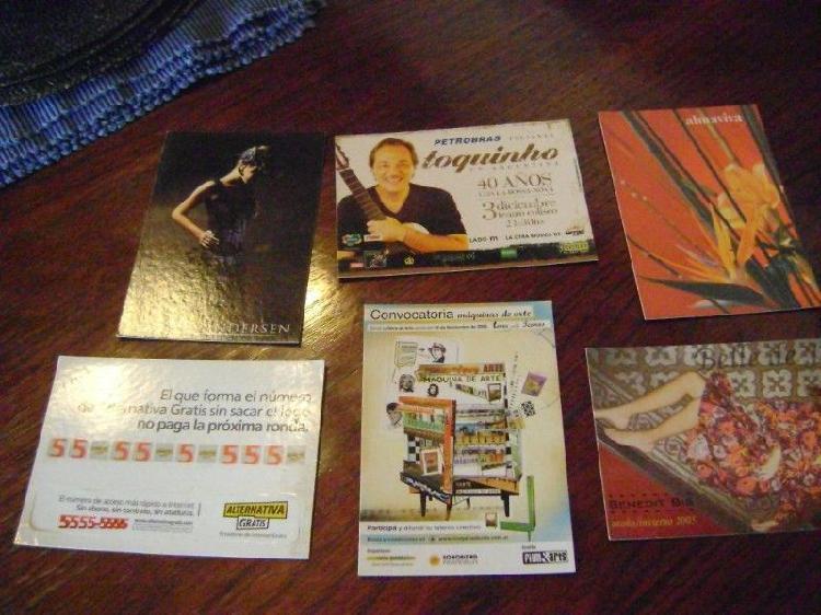 Lote de 20 postales lote 1 para coleccionistas propagandas