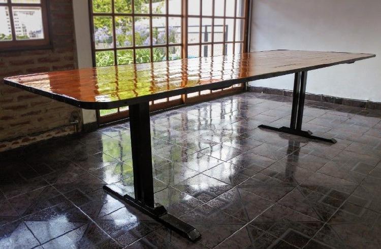 Mesa para quincho, estilo industrial