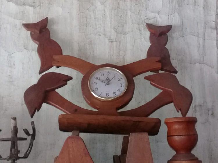 Relojes de madera para pared