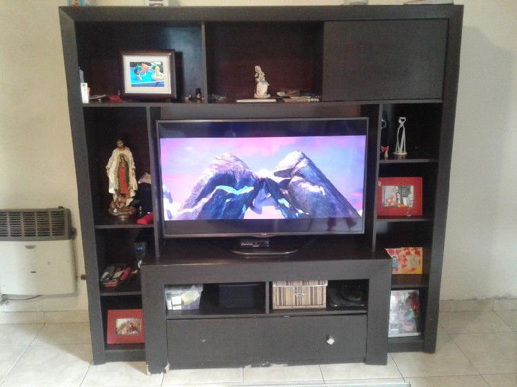 Mueble rack comedor para televisor, con gran cajón central