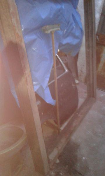 Ventana de madera dura vidrio repartido
