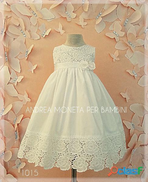Vestidos blancos para bebe bautismo fiesta 1015 bello vestido blanco bordado flores algodon andrea m