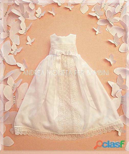 VESTIDOS DE BAUTISMO ARTESANALES ARGENTINA 1053 Vestido Faldon de Bautismo Europeo Largo Bebe Tradi