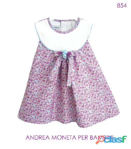 Vestidos de fiesta para bebes 854 vestido con flores violeta lila azul floral dress baby girl violet