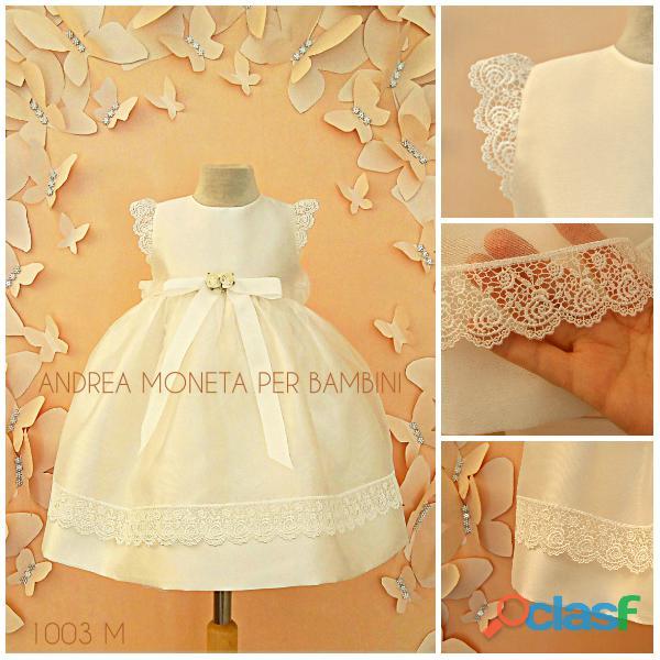 VESTIDOS PARA BAUTISMO BLANCOS 1003 Precioso vestido blanco bebe niña fiesta bautismo andrea moneta