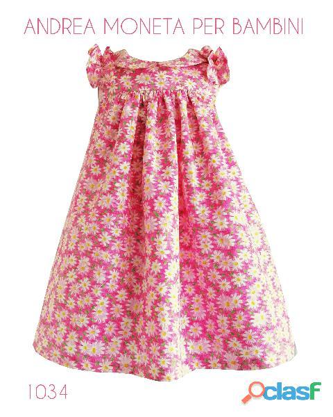 VESTIDOS PARA BEBES 1034 Precioso vestido flores rosa fuscia y blanco andrea moneta pink floral dres