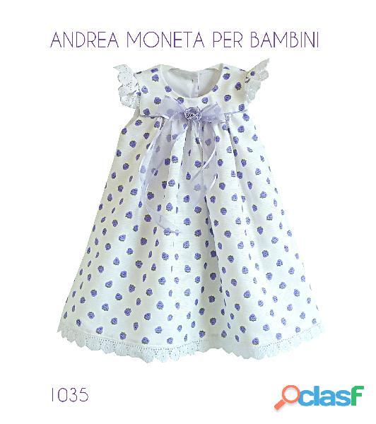 VESTIDOS PARA BEBES 2 AÑOS 1035 Hermoso vestido blanco lila bordado andrea moneta baby dress
