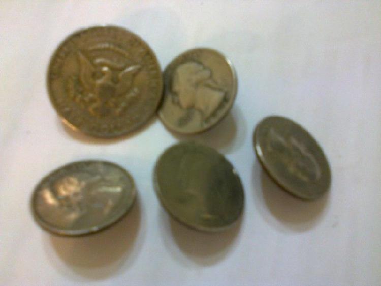 Monedas de eeuu anilladas para rastra