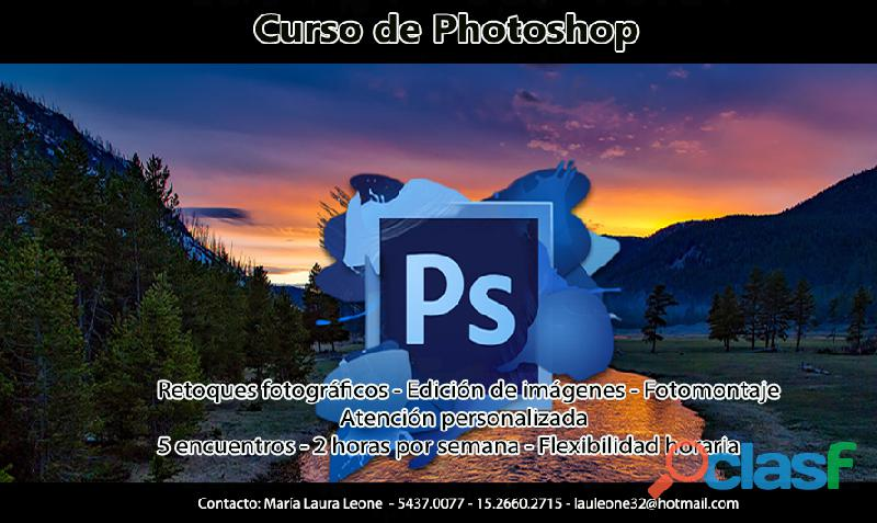 Curso photoshop edicion retoques fotos colores tamaños