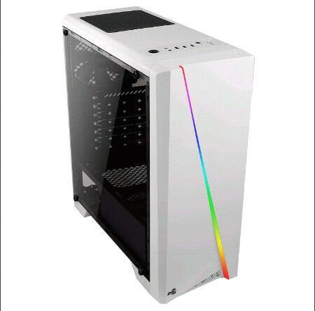Gabinete Aerocool RGB blanco Teclado Semi mecanico RGB