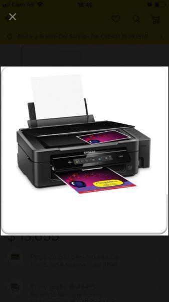 Impresora epson l395 ecotank wifi - sin uso