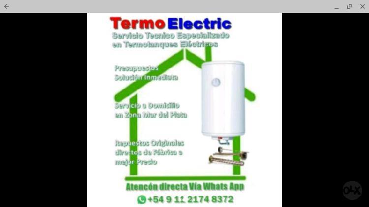 Reparamos termotanques Electricos..