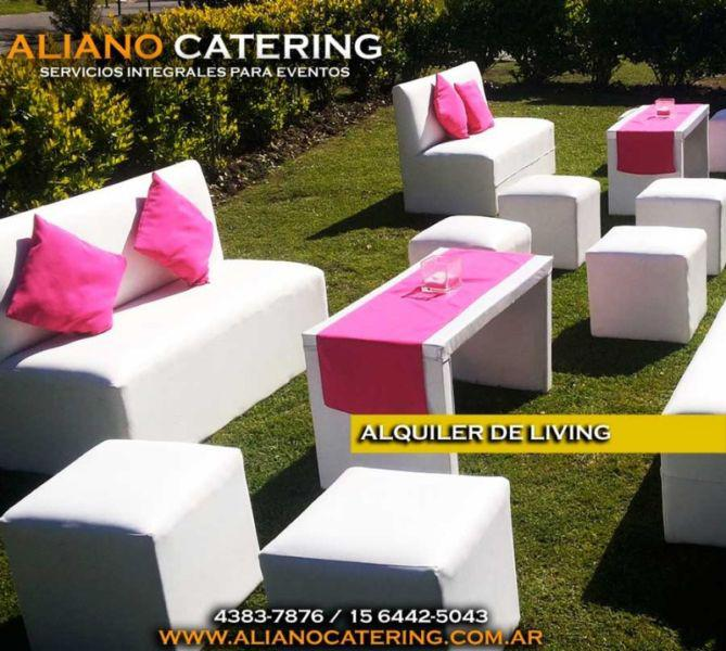 Alquiler de mobiliario livings puff cugos sillones mesas