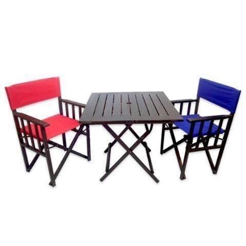 Mesas y sillas plegables metal - madera