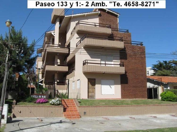 Villa gesell 2 ambientes 4 plazas parque y quincho en paseo