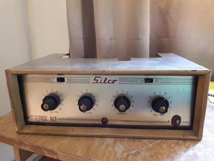 Amplificador valvular vintage silco 343 reconstruido