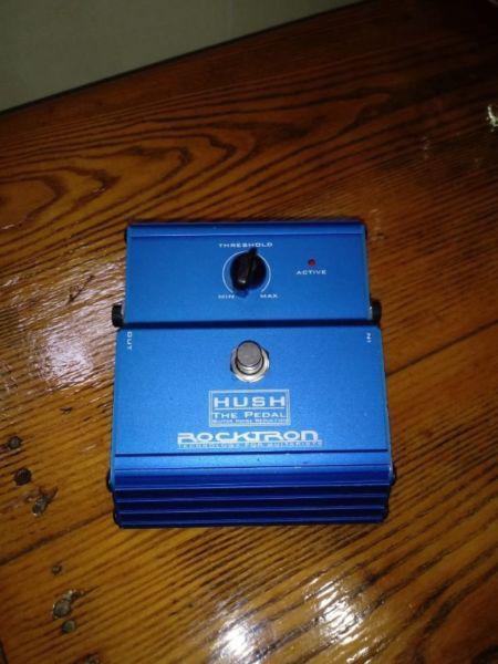 Pedal de guitarra eléctrica. hush the pedal rocktron. noise