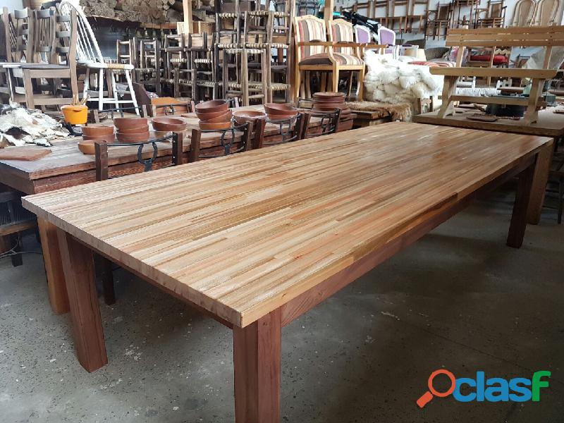 Mesa de eucaliptus 120 x 3 ideal quincho