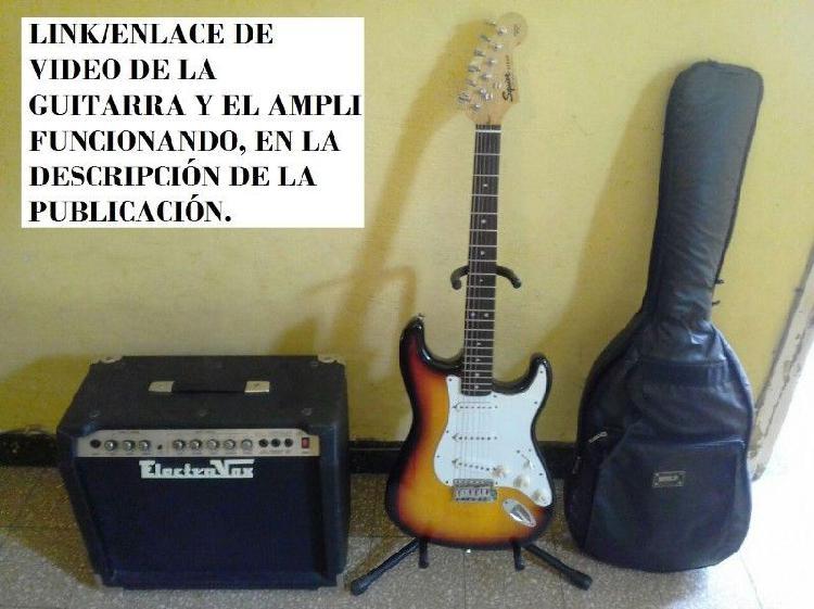 Combo guitarra con funda y pie amplificador vendo o canje