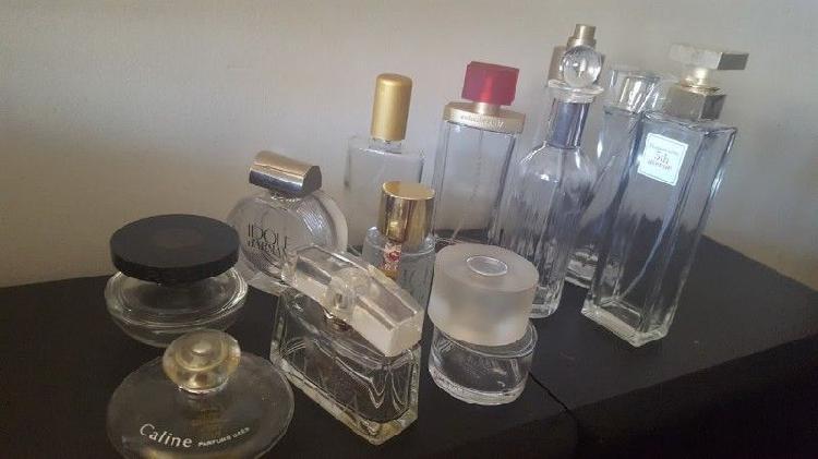 Perfumes importados frascos vacíos (usados) lote x 12