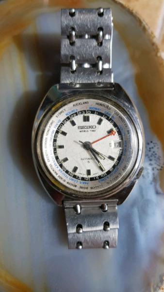 Reloj seiko antiguo world time funcionado (hora mundial)