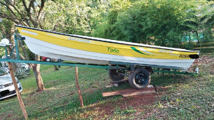 Bote, lancha, canobote san ignacio, ubajay 505 con motor