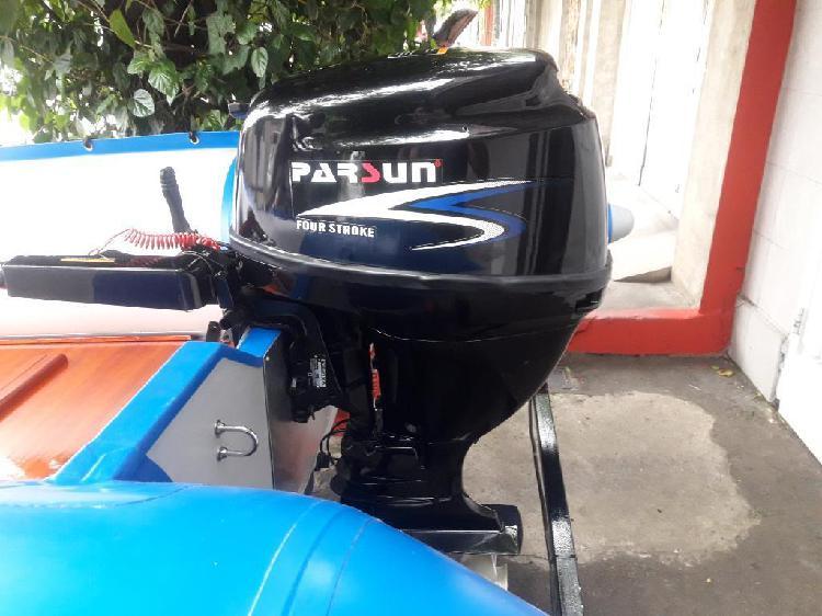 Motor parsun 15hp 4tiempos impecable