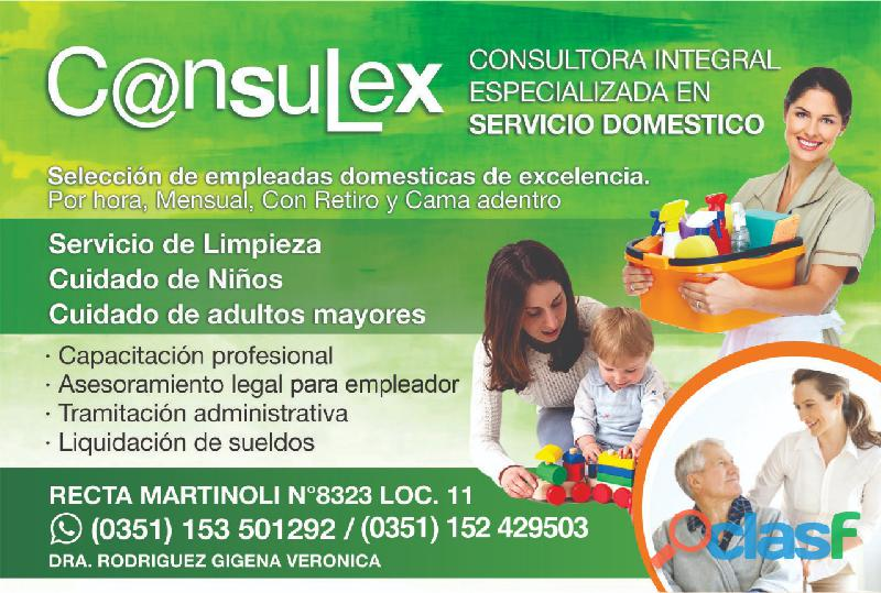 Consultora integral especializada en servicio doméstico