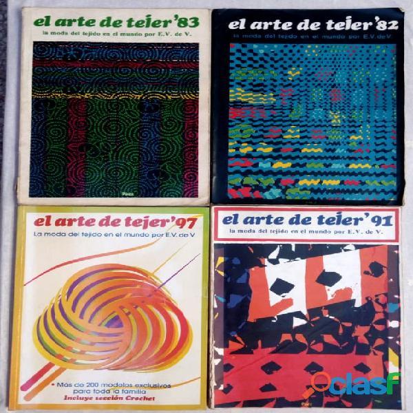El arte de tejer. lote de 4 revistas. muy buen estado.