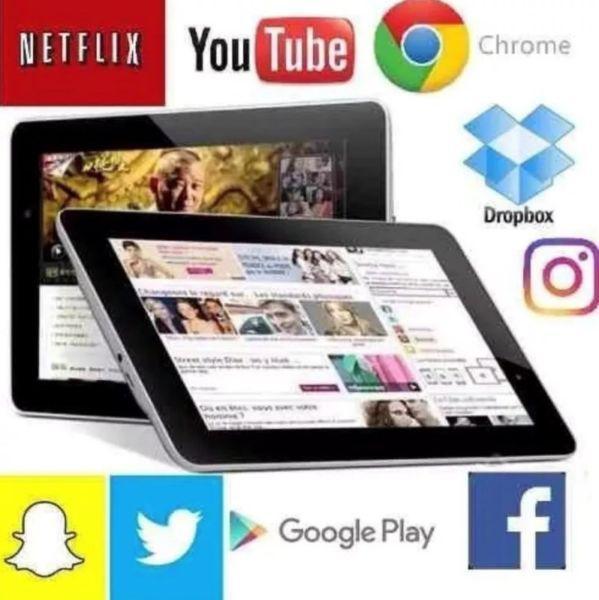 Tablet hd 7 pulgadas, android, camara 5mpx, bluetooth,