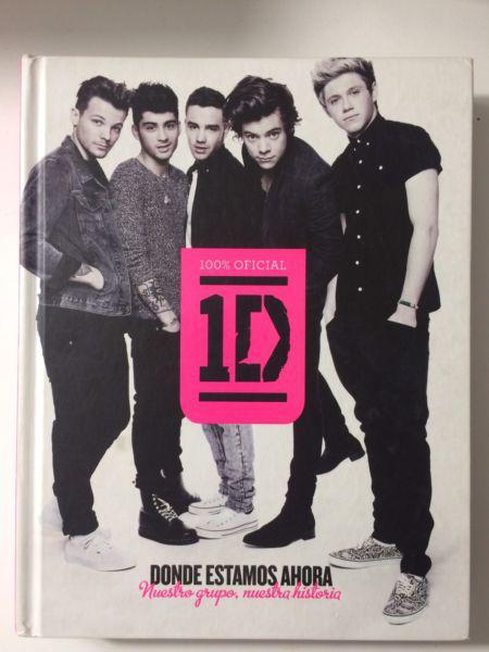 """Vendo libro """"donde estamos ahora"""" one direction."""