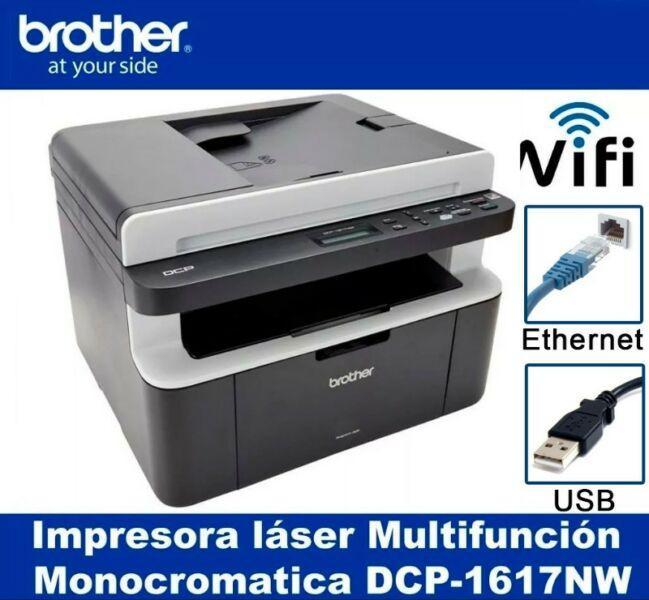 Impresora laser multifunción brother dcp 1617nw wifi red