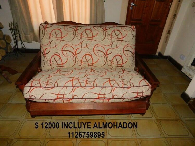 Juego de sillones y mesa ratona de algarrobo