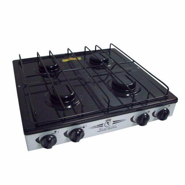 Anafe cocina 4 hornallas gas envasado ideal camping / casa