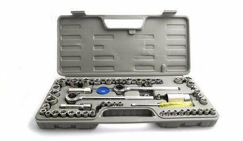 Caja juego herramientas tubo y puntas 52 piezas con criquet 91825d98c727