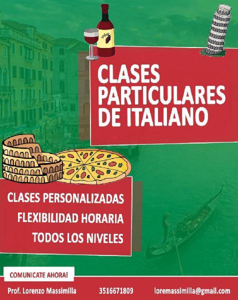 Clases particulares de italiano para todos los niveles