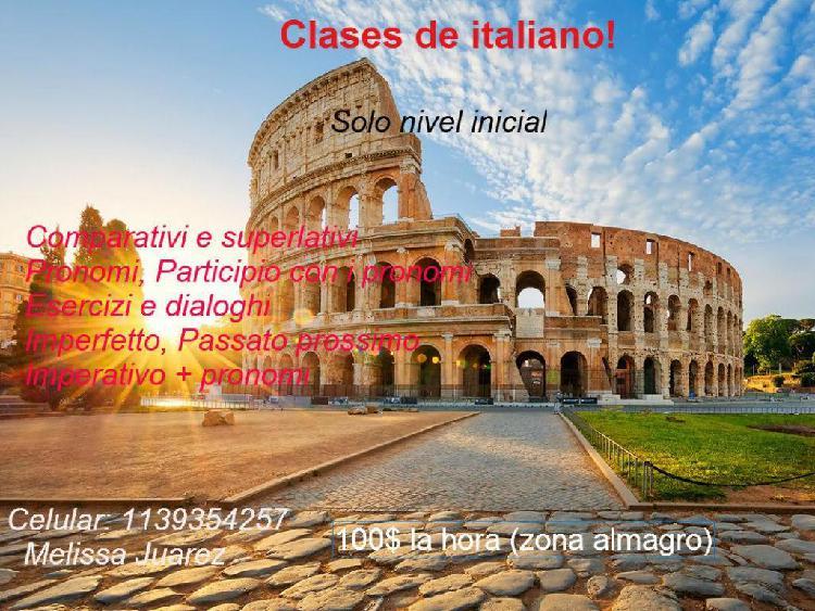 Clases de italiano!