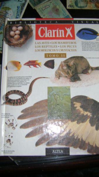 Diccionario visual clarin tomo ii aves.mamiferos.reptiles...