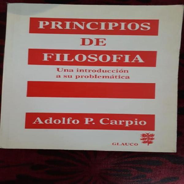 Filosofía, carpio, un texto fundamental.