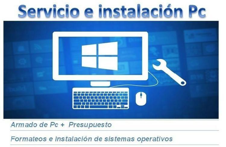 Formateo e instalación de sistema operativo a domicilio