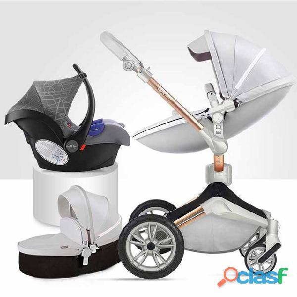 Cochecito para bebés 2018 hot mom sistema de viaje 3 en 1 cochecito de la cuna sillón de automóvil
