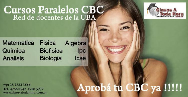 Cbc clases particulares y cursos paralelos matematica y