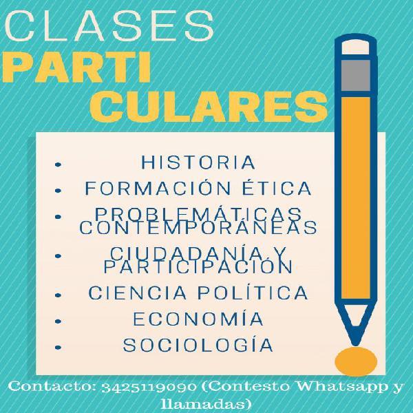 Clases particulares en ciencias sociales