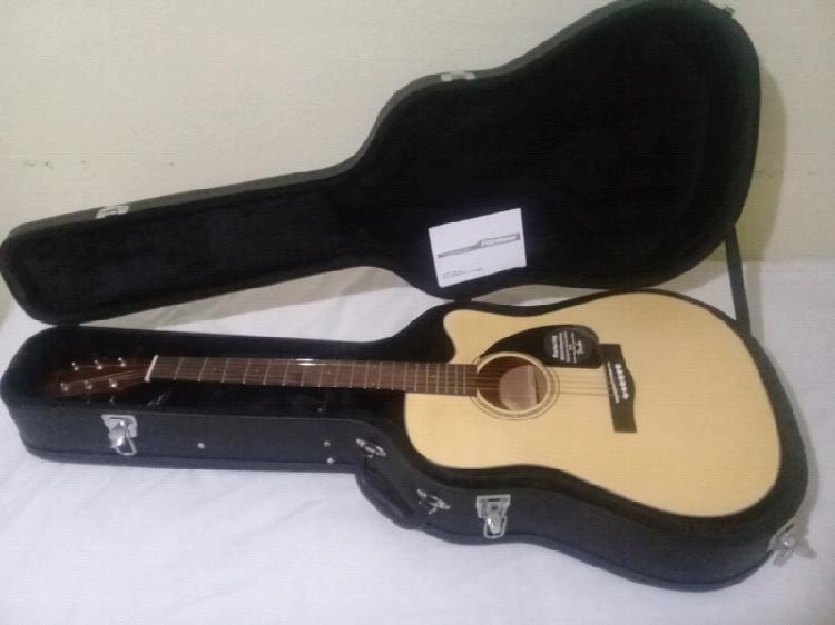 Guitarra electroacústica fender cd-60ce natural con estuche
